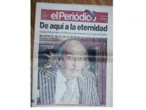 Portada de la muerte de Dalí